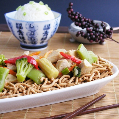 ... flavor of the Orient with this easy to make chicken cow mien recipe