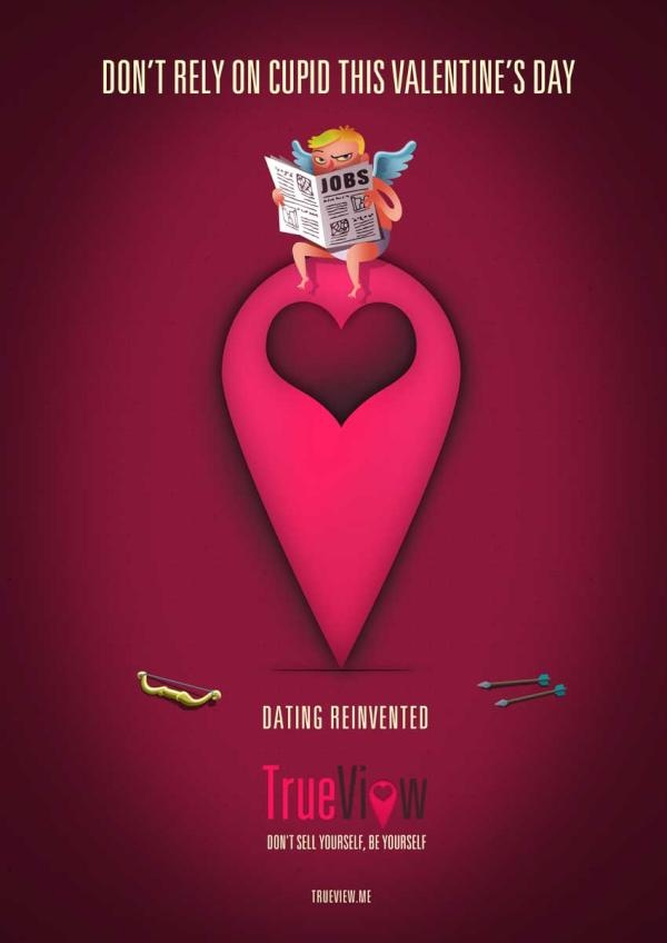 valentine's day print ads