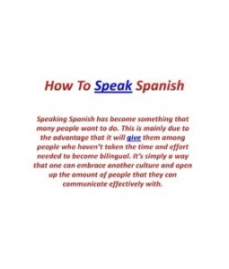 how to say no speak english in spanish