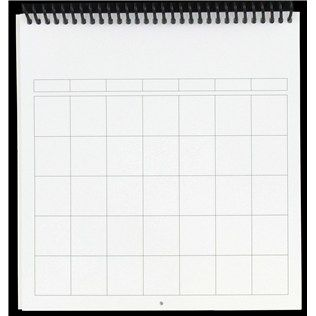 "the Paper Studio 8"" x 8"" 12-Month Blank Calendar 
