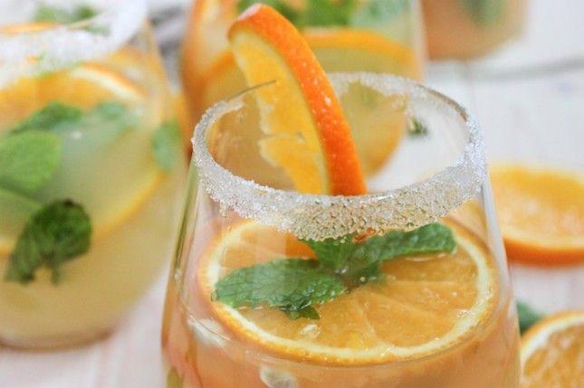 Tangerine Ginger Sake Sangria.
