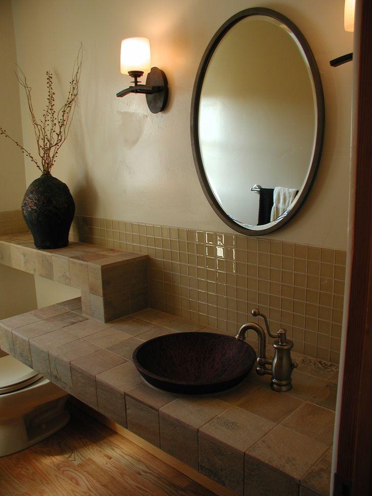 Tile top of vanity bathroom remodel pinterest