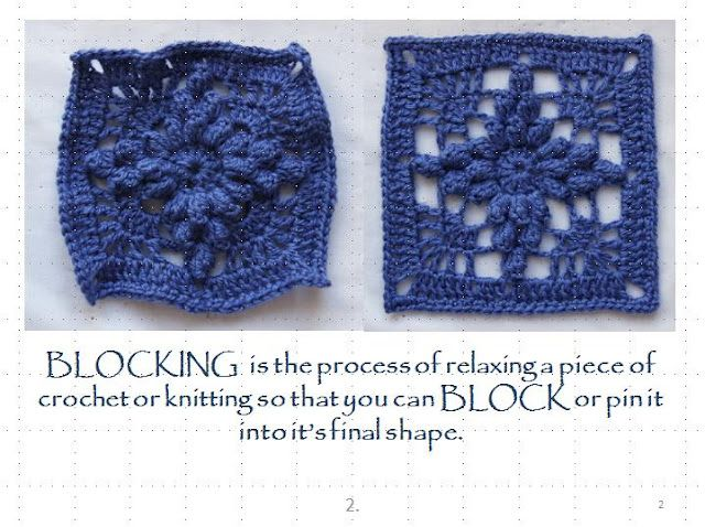 Spray Blocking Crochet Tutorial. ? Knitting of squares Pinterest