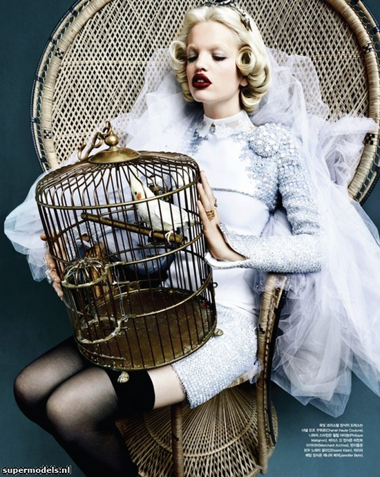 Daphne Groeneveld in 'Mystic Blue' - Photographed by Rafael Stahelin (Vogue Korea April 2012)