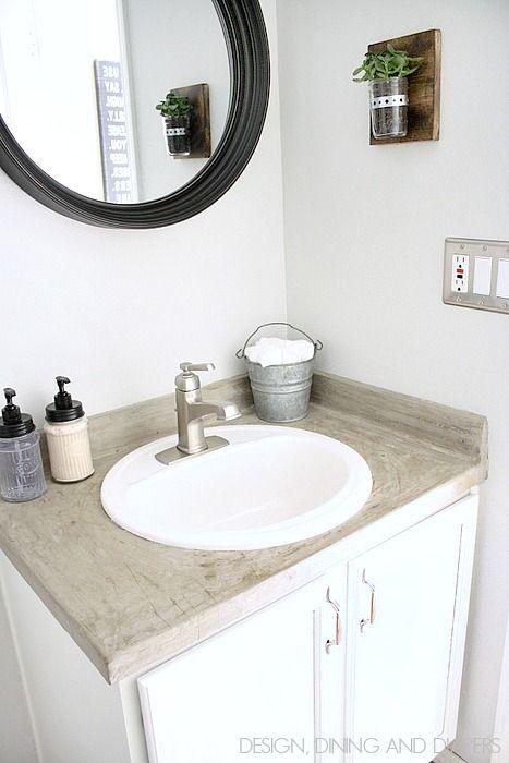 Modern farmhouse bathroom reveal for Modern half bathroom ideas