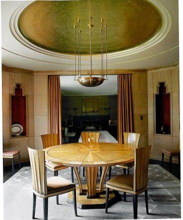 Art Deco Dining Room Home Design Architecture Pinterest