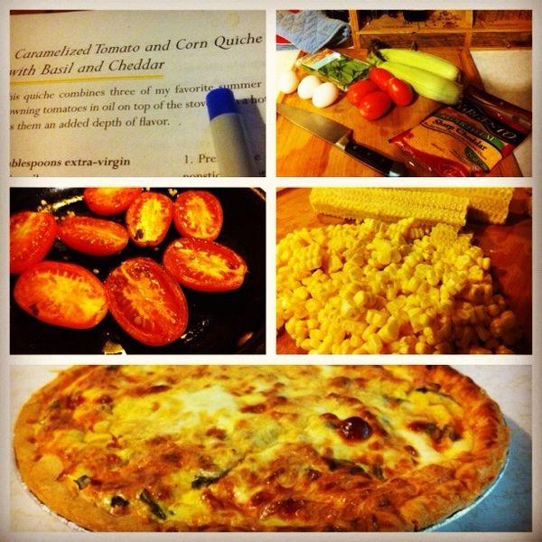 Tomato corn & basil quiche | Favorite Recipes | Pinterest