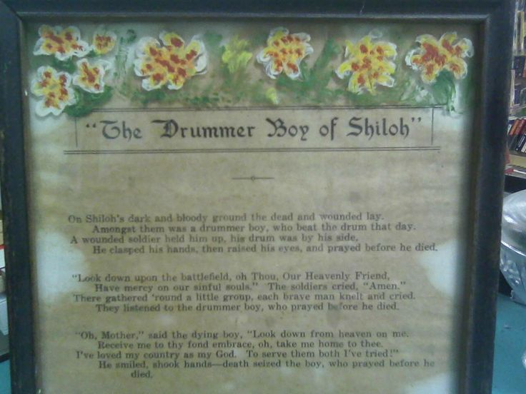the drummer boy of shiloh essay