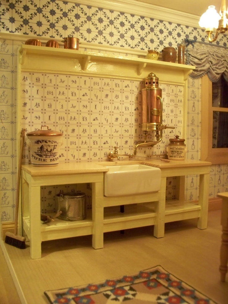 Lemony kitchen with copper accents navy yellow in the - Kitchen with copper accents ...