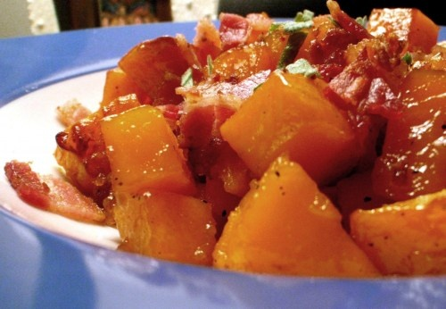 Maple-Roasted Butternut Squash with Pancetta and Sage | Daily Crave