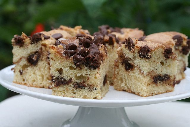 Food Librarian - Cinnamon Chocolate Chip Sour Cream Coffee Cake by ...