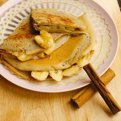 Banana Cinnamon Crepes | Tasty Foods | Pinterest