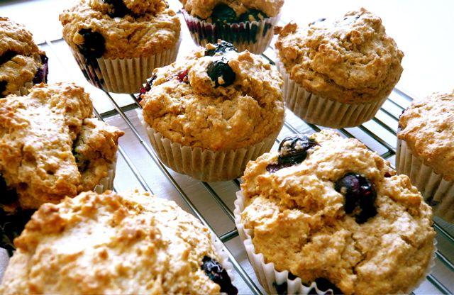 Blueberry muffins- heathier version | Breakfast | Pinterest