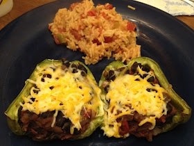 Pirate's Journey in the Kitchen: Beer Bean-Stuffed Poblano Peppers