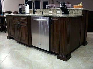 Kitchen island with sink and dishwasher kitchen island has marble