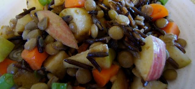 Julia's (Vegan) Kitchen: Apple, Lentil and Wild Rice Salad