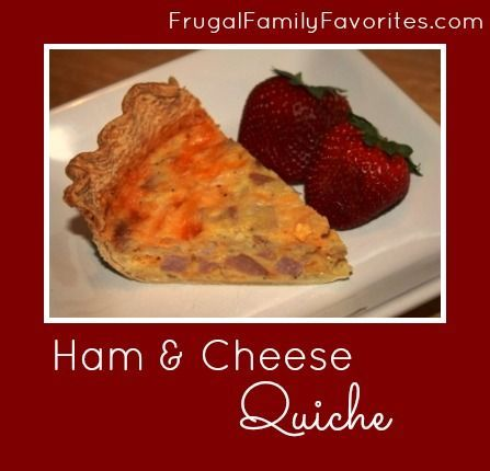 Ham and Cheese Quiche | Yummers | Pinterest