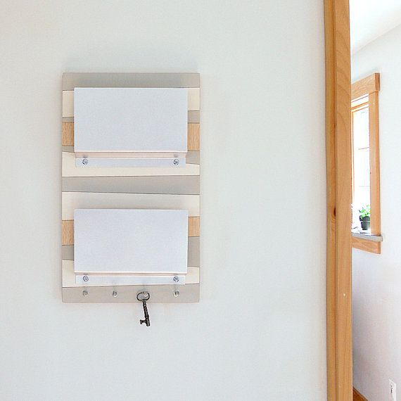 Decorative wall mounted letter holders : Coast modern nautical wall mount mail letter holder
