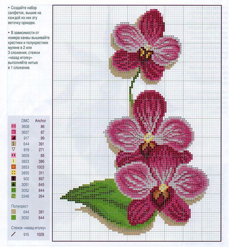 Вышивка схема орхидея 31