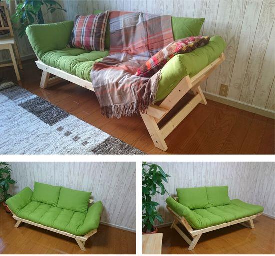Деревянный диван своими руками 858