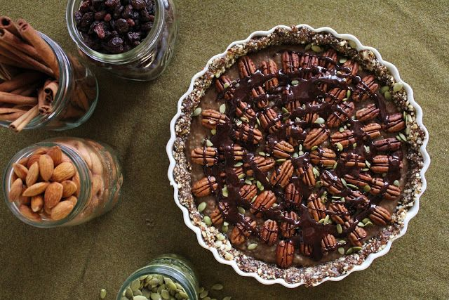 Raw Chia Caramel Pecan Pie | RAW FOOD RECIPES | Pinterest