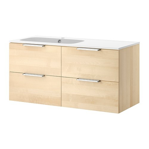 Ikea Schreibtisch Kombination ~ Ikea white modern bathroom vanity  Bathroom  Pinterest