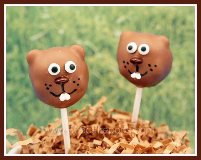 Groundhog Day Cake Pops.   Cake ideas   Pinterest