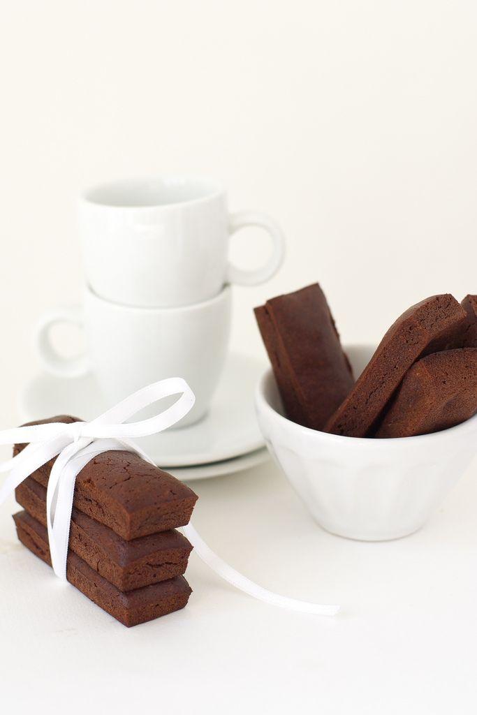 chocolate financiers with a hint of jasmine