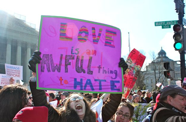 The 60 Best Signs Against DOMA And Prop 8 At The SupremeCourt