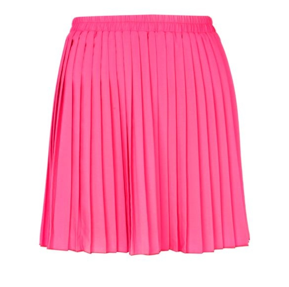 pink pleated skirt fashion