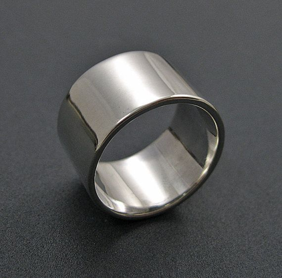 wide band ring sterling silver band wedding band