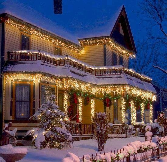 Beautiful christmas lights holiday exteriors pinterest