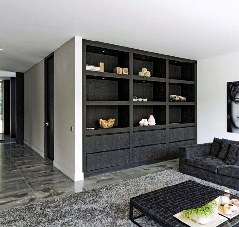 Open wandkast woonkamer  Huisideeen  Pinterest