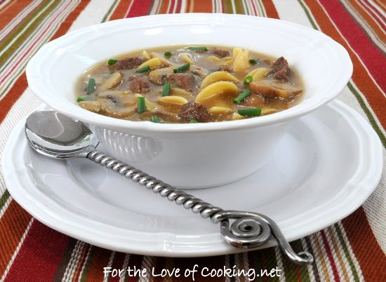 Beef Stroganoff Soup...this is seriously one of my favorite soups now ...