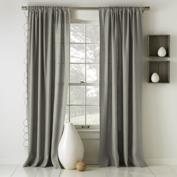 gray linen curtains bedroom bedroom pinterest. Black Bedroom Furniture Sets. Home Design Ideas