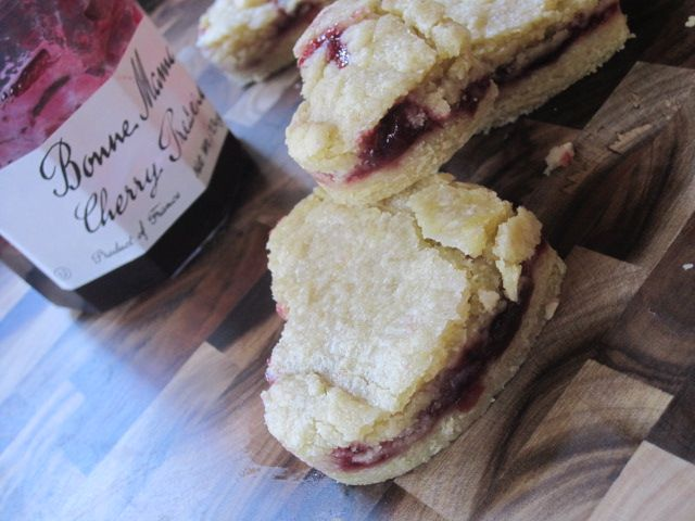 Cherry Jam shortbread cookies (or any kind of jam)