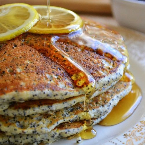 Lemon Poppy Seed Pancakes | recipes | Pinterest