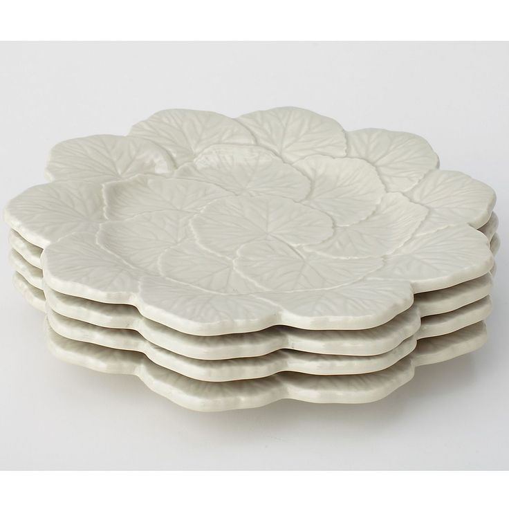 Geranimum Holiday Dessert Plates, Set of 4 | The Company Store