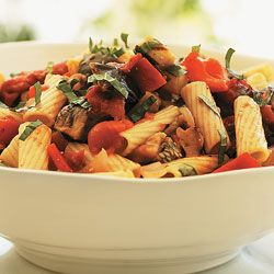 Rigatoni With Grilled Vegetable Sauce