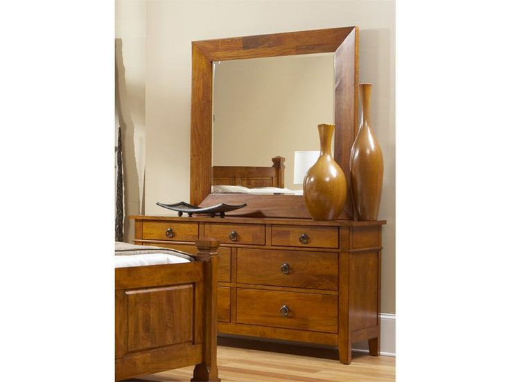 Enhance your master bedroom with the Union Square dresser and mirror.