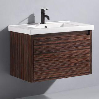 inch espresso petit single bathroom vanity high x wide