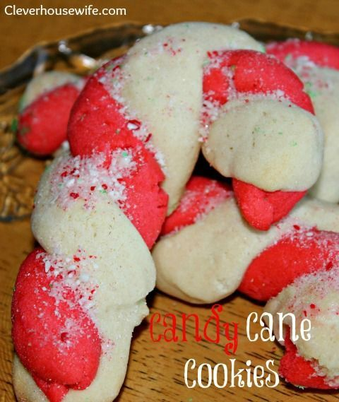 Candy cane cookies christmas confections pinterest