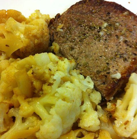 Sirloin Tip Steak and Cauliflower 1 pound sirloin tip steak