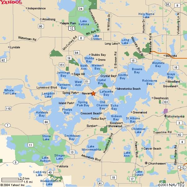Map Of Lake Minnetonka  Minneapolis MN  Pinterest