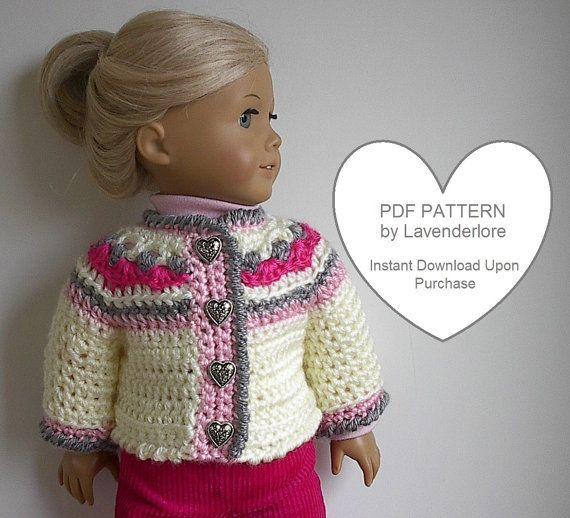 Crochet Patterns American Girl Doll : Crochet Pattern for American Girl Doll - Icelandic Style Sweater Jack ...