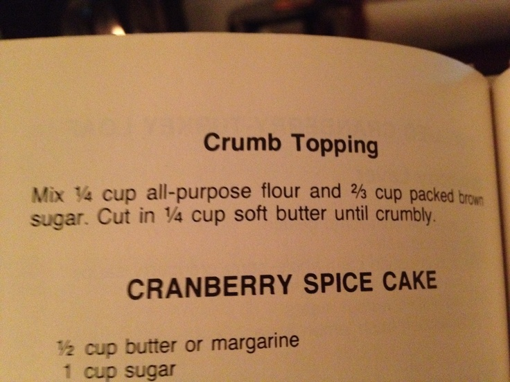 Crumb topping for cranberry coffee cake | recipes | Pinterest