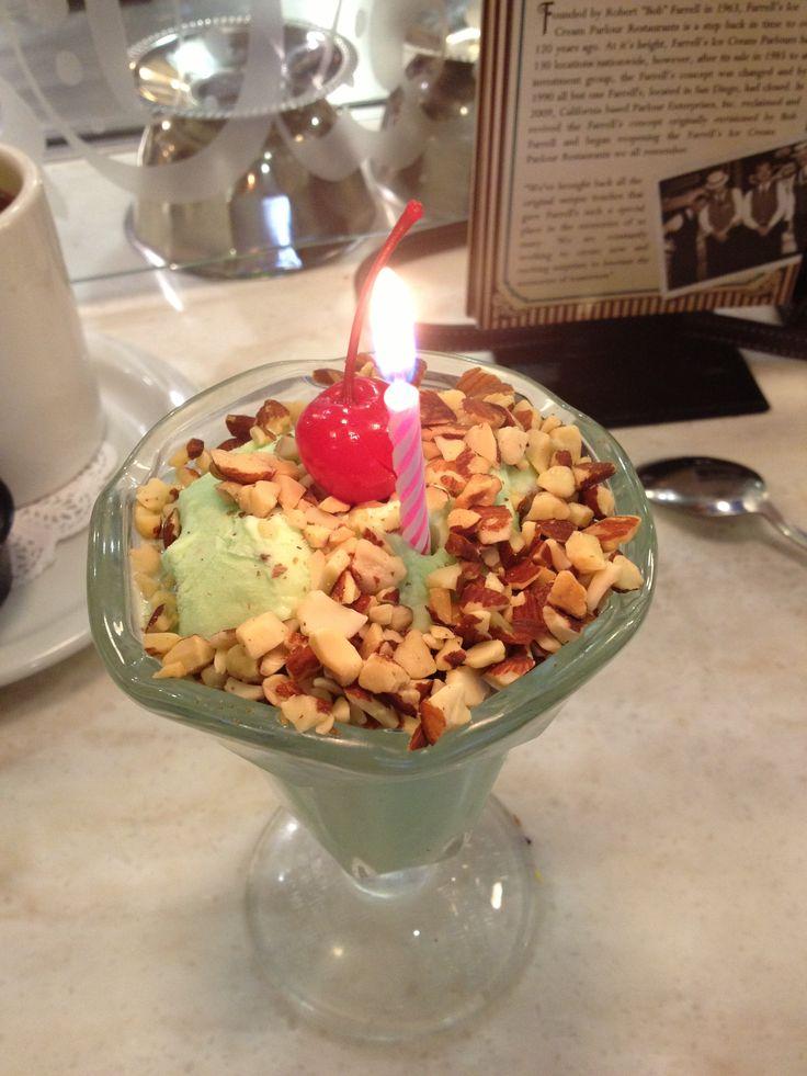 Pistachio Birthday Sundae | Food is Art | Pinterest