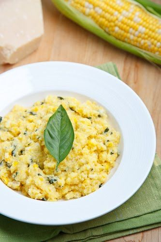 Fresh Corn and Basil Polenta - Creamy smooth polena with juicy corn ...