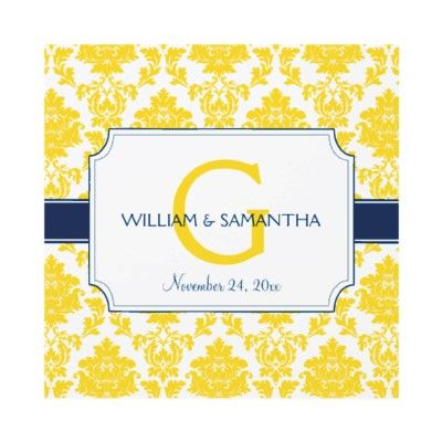 Damask Label Wedding Invitation -   A fun blend of classic and modern for these cute wedding invitations!
