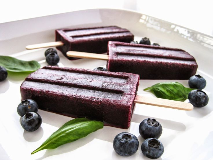 Blueberry Basil Martini Popsicles